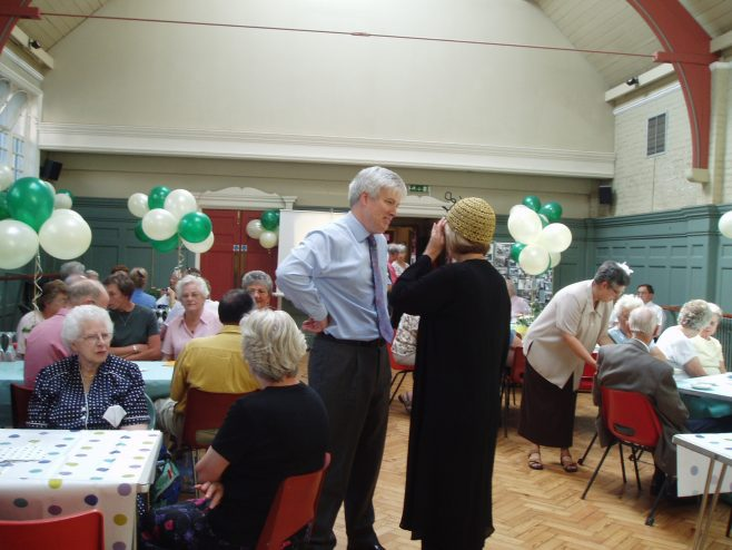 75th Anniversary tea party for Pensioners of Robert Sayle.