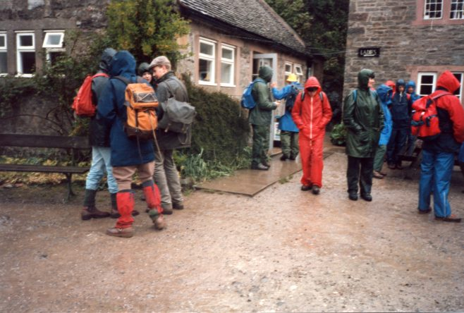 Robert Sayle Rambling Club walk in the Manifold Valley in the rain