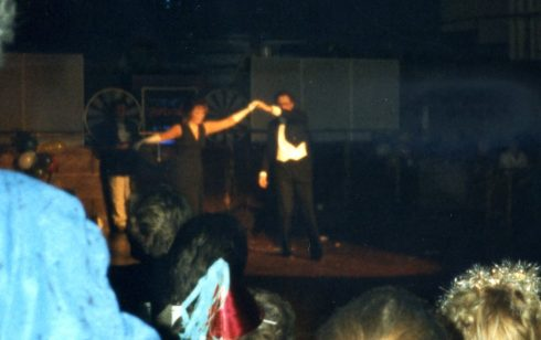 Mrs Geary and Chris Mitchell in the Robert Sayle Revue at the Guildhall