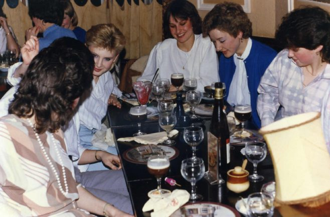 Robert Sayle celebration meal for Partners of Haberdashery after winning the Housekeeping Competition.