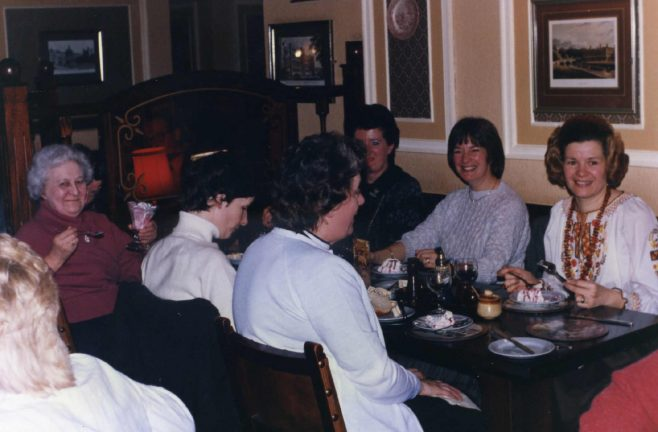 Robert Sayle Haberdashery Department celebration dinner.