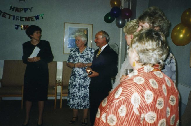 Jim Starr at his Retirement Party - Robert Sayle