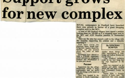 More talk about the move!. Article from the Cambridge Evening News.