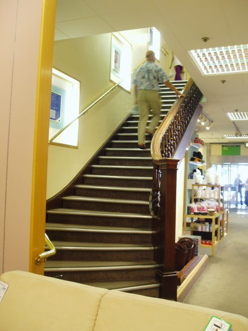 Staircase up to Linens and Ladies Shoes  Robert Sayle