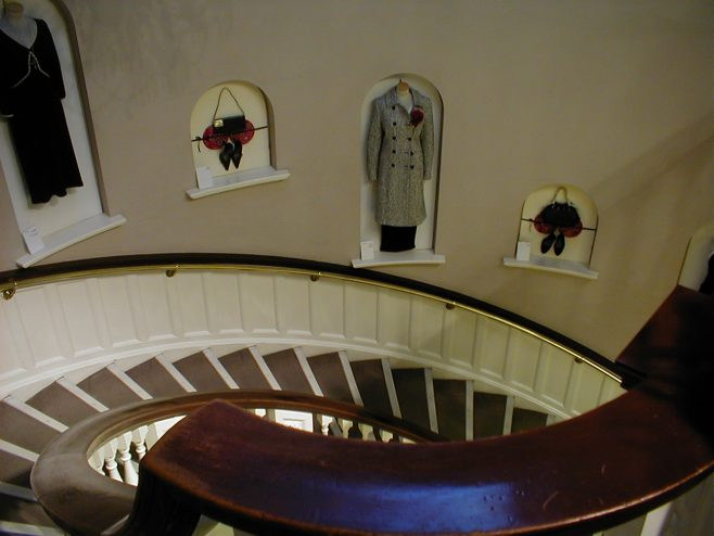 Another view of the main staircase from the Fashion Floor