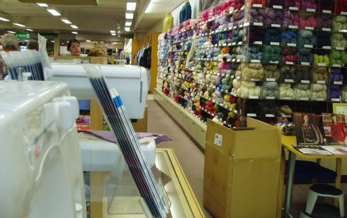 Wools in the Haberdashery Department at Robert Sayle