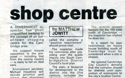 Government Minister gives backing for Robert Sayle to become an out  of town store