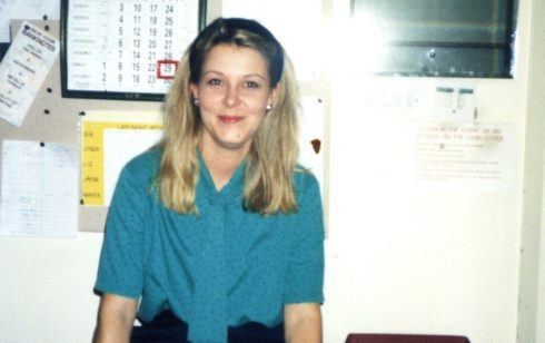 Jayne Gilbertson in the Robert Sayle Cash Office.