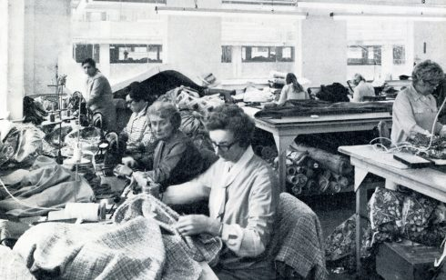 Robert Sayle soft furnishing workroom  An extract from the Gazette of 1972