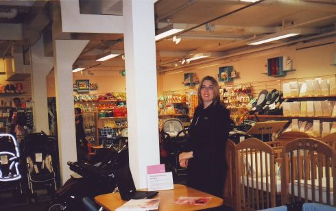 Anna Ruston in Robert Sayle Nursery Furniture department.
