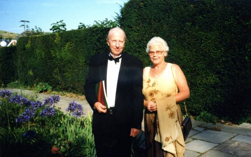 Marjorie Shaw and her husband Terry representing Robert Sayle at Glyndebourne