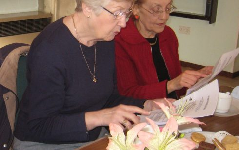 Joyce Badcock and Pam Woollard at a Coffee Morning for Retired Partners from Robert Sayle and those who have been adopted from other branches.