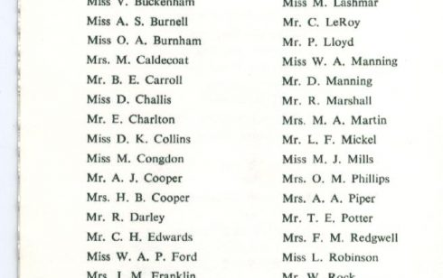 List of members of the Robert Sayle Waterloo Club in 1975