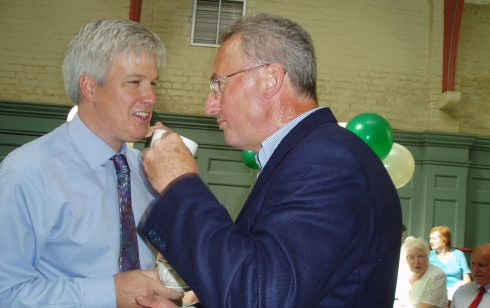 Two previous MD's of Robert Sayle at the 75th Anniversary tea party