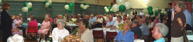 Overall view of Retired Partners at the 75th Anniversary tea party