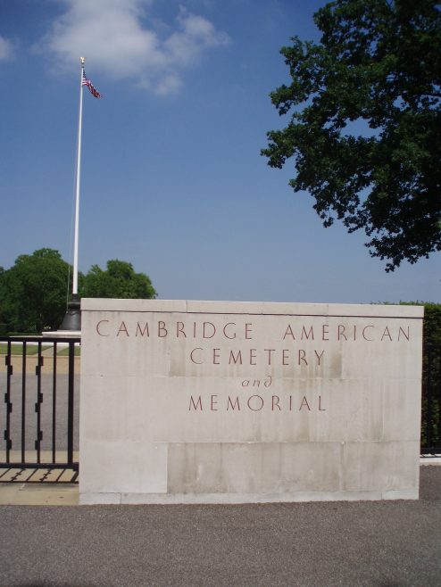 Madingley American Airmen's Cemetery. The destination for the Robert Sayle Rambling Club walk from Newnham to Madingley.