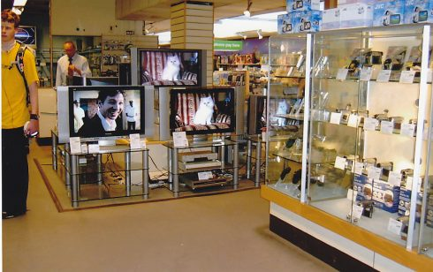 Cameras,  Radio and TV dept at Robert Sayle 25  St Andrews St