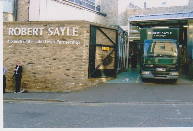 Entrance to Robert Sayle from St Tibbs Row
