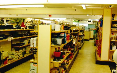 Kitchenware department Robert Sayle basement.