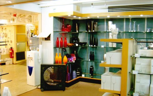 Basement area looking  into Kitchenware.