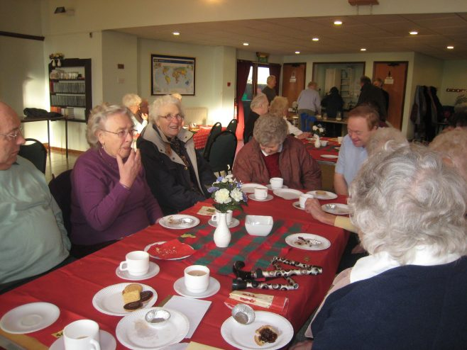 Retirement coffee morning Christmas 2009