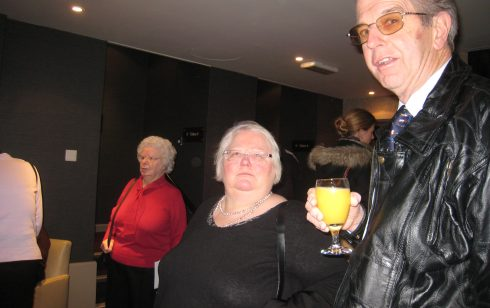 Betty Probert, Penny Olesen and Peter Murrills at Christmas dinner 2009
