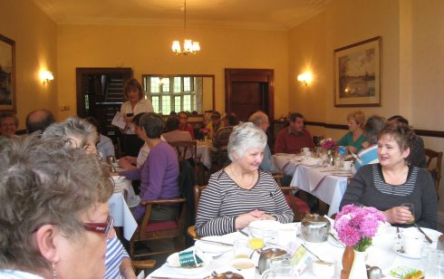 Rambling Club dinner at Leckford Abbas with Robbie,  Pauline, Sylvia and other members celebrating the 21st anniversary of the Rambling Club.