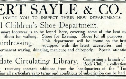 Advertisement for staff for Robert Sayle in the magazine ' The Constitutional Blotter ; Cambridge