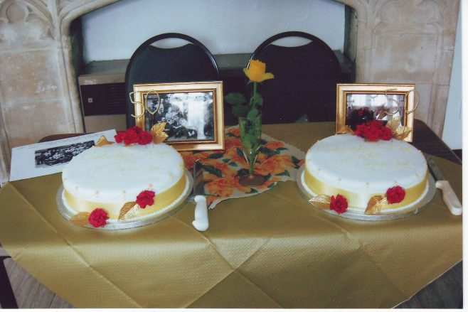 Waterloo Club/25 Years; 50th anniversary celebration cakes
