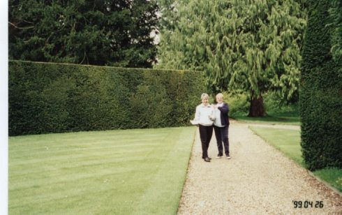 Deparment Managers in the gardens of Madingley Hall where their Conference was taking place.