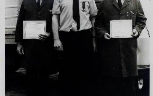 Bob Attmore and his Colleague receiving their ROSPA Driving awards