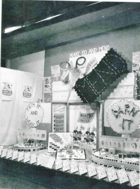 Robert Sayle Make do and Mend window display in 1944