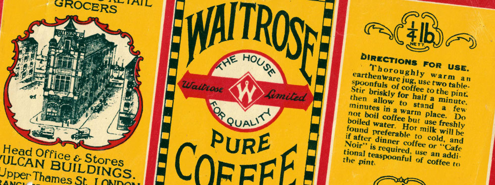 Waitrose Own Brand Coffee Packaging