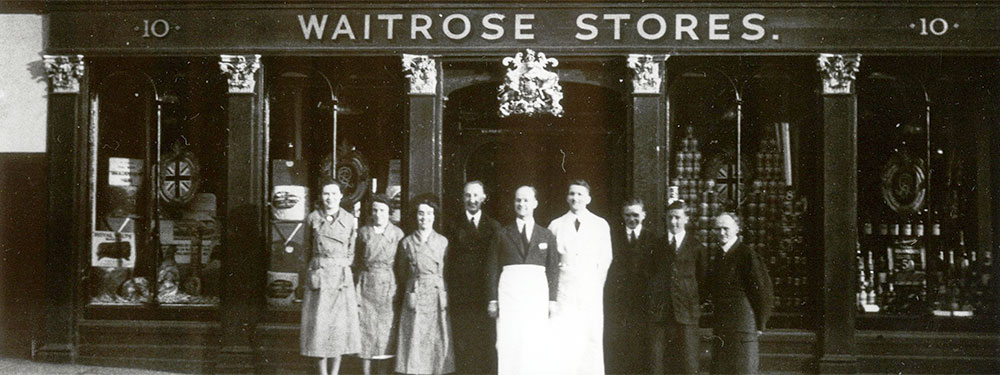 Waitrose Windsor, 1937, decorated for the Coronation of George VI