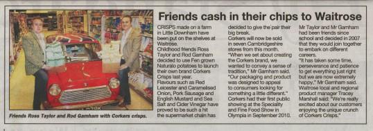 Corkers Crisps launch