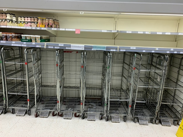Milk dollies/aisle