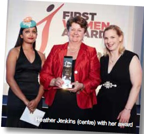Heather wins First Women Award
