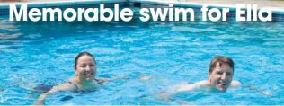 Memorable swim for Ella | Photograph - Jeff Hopkins Photography
