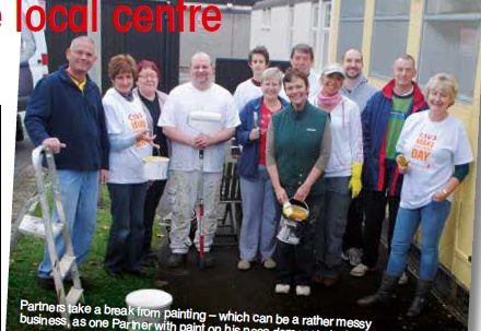 Partners give local centre a lick of paint