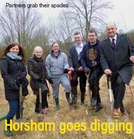 Horsham goes digging