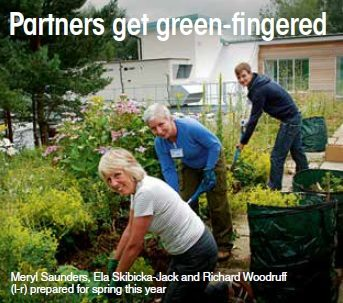 Partners get green-fingered