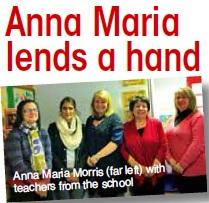 Anna Maria lends a hand