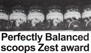 Perfectly Balanced scoops ZEST award