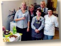 Baking supports coffee morning