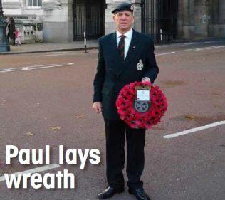 Paul lays wreath