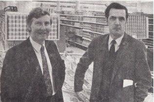 Branch Manager, Mr Alex Burns (left) with his Deputy Manager, Mr Reg Humphreys