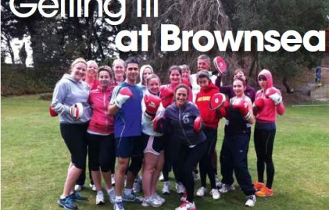 Getting fit at Brownsea