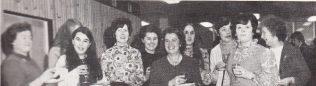 From left: Mrs Jean Greaves-Assistant Registrar, Miss Linda Jansen, Mrs Jean Morris, Miss Maureen Orchard, Mrs Ruth Brooks, Mrs Mary Stewart, Mrs Shelia Robinson, Mrs Linda Challis, Mrs Sylvia Crocker and Mrs Dorothy Phillips, all of Registry