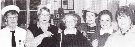 From l to r: Josie Cook, Pam Rogers, Muriel Right, Jean Day, Margaret May and Stella Curtis