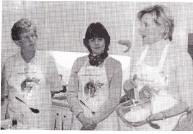 L to R: Sue Rigley, Maggie Tanton and Focus on Food Director Anita Cormac